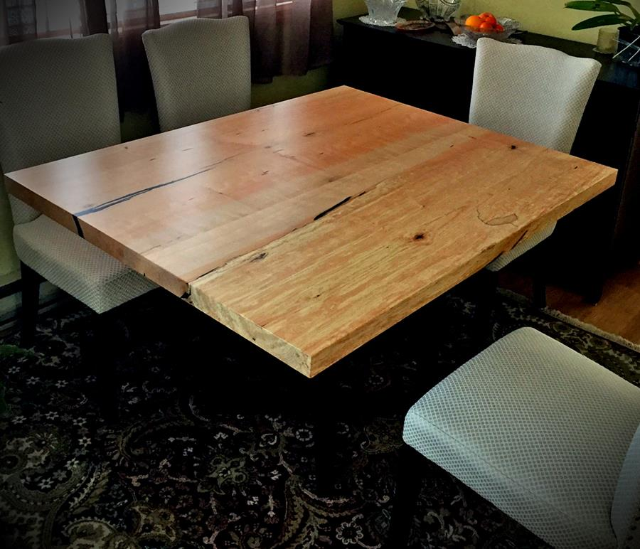 modern solid wood table