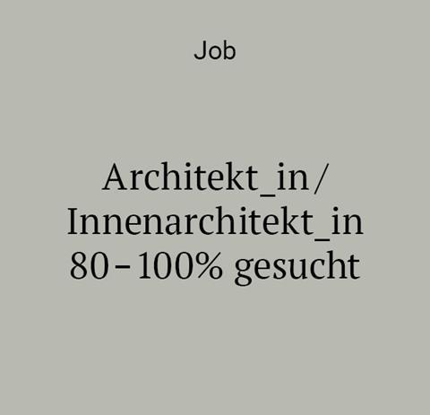 job architekt_in