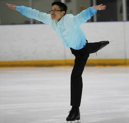 Special Olympics figure skater Matthew Lai at the 2016 BC Games