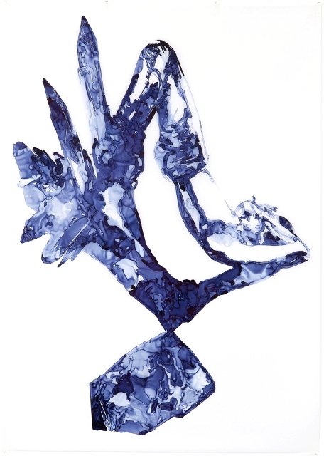 Celestite, 2012, ink on drafting film, 84 x 60