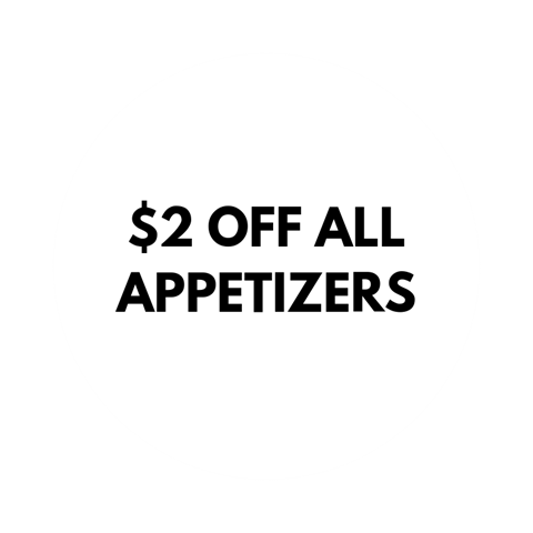 $2 off all appetizers
