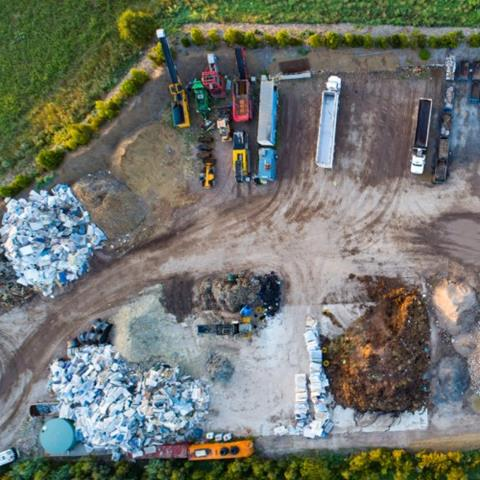 Aerial view of waste and resource recovery facility
