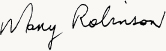 Mary Robinson signature