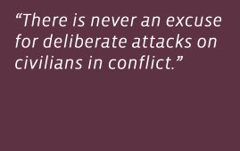 Quote from Jimmy Carter and Mary Robinson's opinion piece