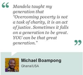 Nelson Mandela tribute message
