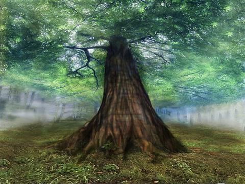 Depiction of the World-tree Ygdrasil by Rune Brimer on Flickr. Shared under CC BY 2.0